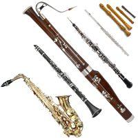 Holzblasinstrumente Blockflöte Querflöte Oboe Fagott Klarinette Saxophon