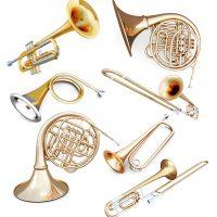Blechblasinstrumente Trompete Waldhorn Posaune