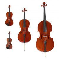 Streichinstrumente Violine Viola Bratsche Violoncello Kontrabass