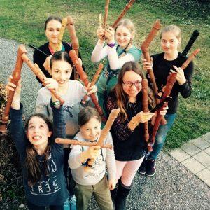 Blockflöten Esnsemble Flötenwirbel